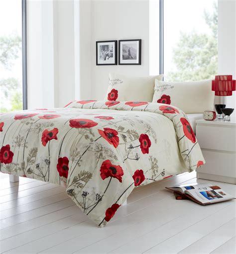 Poppy Bedding Sets Chara Duvet Quilt Cover Bedding Set Poppy Floral Flower Reversible Uk Ebay