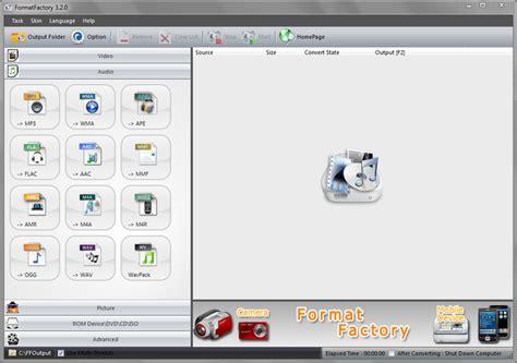 format factory adalah software converter video audio terbaik dan terlengkap
