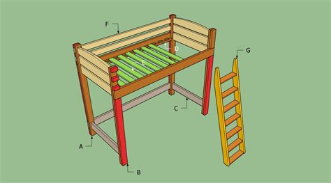 how to build a loft bed pdf diy diy loft bed with desk plans download diy home