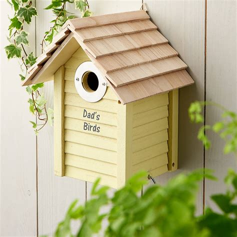 personalised wooden bird box by jonny s sister