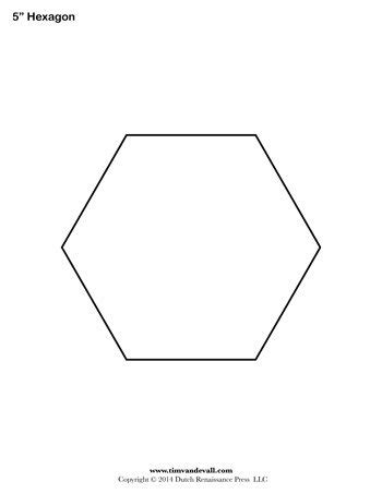 5 inch hexagon template hexagon template 5 inch tim s printables