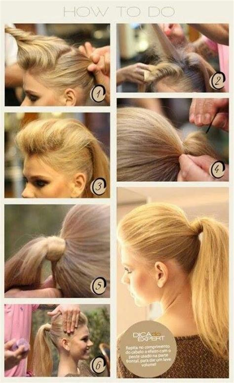 how to style the back of the comb ober back comb ponytail hair styles ideas pinterest