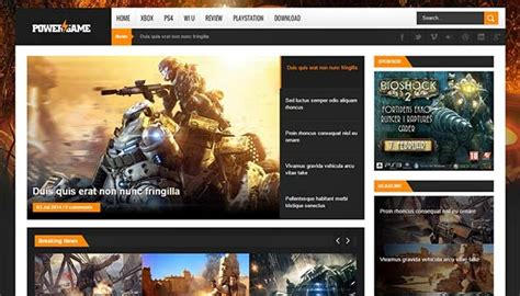 best gaming templates 18 best free templates 2016