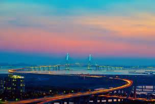 Wallpaper Hp Korea | wallpaper city incheon korea bridge lights wallpapers