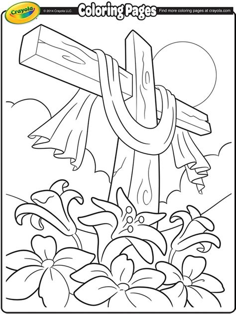 Easter Coloring Pages Crayola | easter cross coloring page crayola com