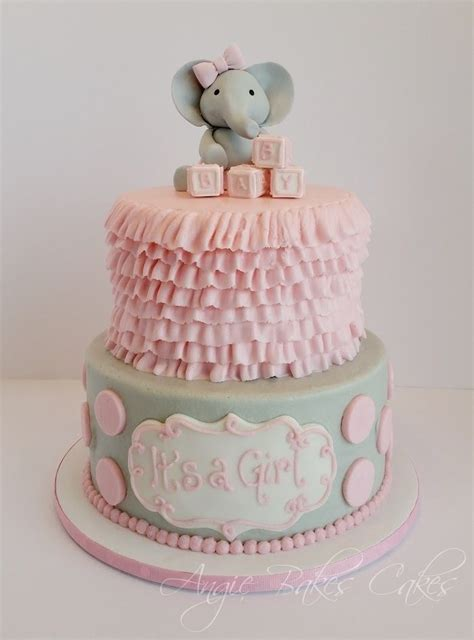 Gray And Pink Baby Shower by Pink And Gray Baby Shower Cakes Www Pixshark