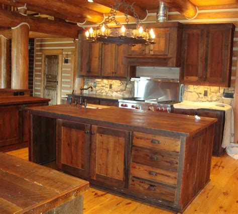 Wooden Kitchen Furniture Marvelous Rustic Kitchen Cabinets Using Wood As Base Material Mykitcheninterior