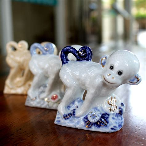 new year monkey figurines porcelain monkey ornament russia new year gift