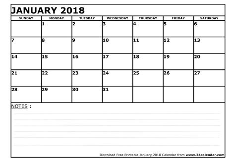 printable weekly calendar january 2018 blank january 2018 calendar in printable format