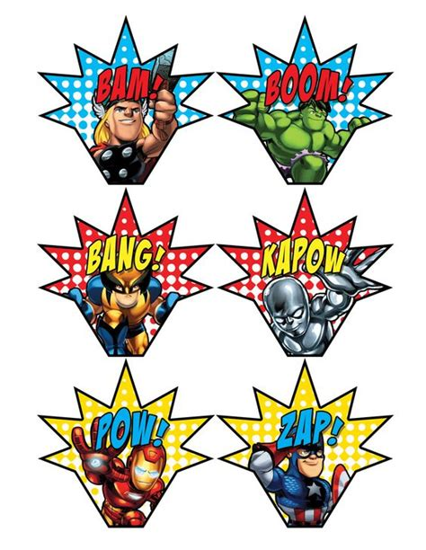printable heroes download superhero party signs boom pow zap bam pop 11 x 17