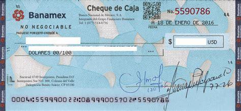 ejemplo de cheque
