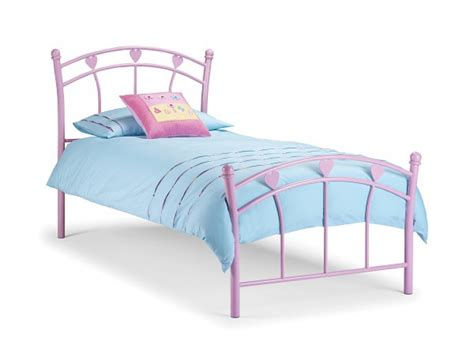 Single Bed Frame Uk Julian Bowen Jemima 3ft Single Pink Metal Bed Frame By Julian Bowen