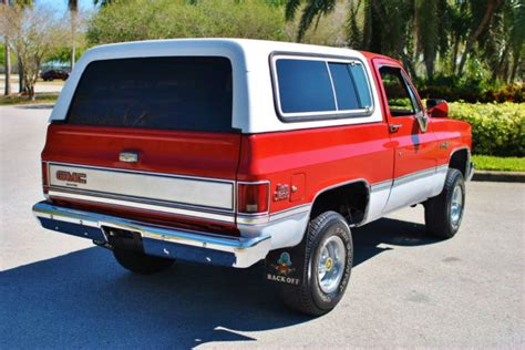 gmc jimmy 1988 1988 gmc jimmy 4x4 fuel injected 5 7l low mileage clean