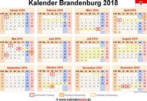 Kalender 2018 Schweiz Pdf Kalender 2018 Brandenburg Ferien Feiertage Pdf Vorlagen