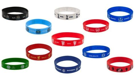 Manchester City Silicone Wristband football clubs official silicone wristband bracelet