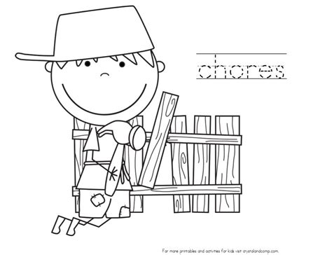 house chores coloring pages coloring pages kids doing chores coloring home