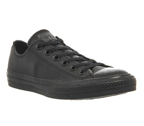 Converse Sport Black converse all low leather black mono leather unisex