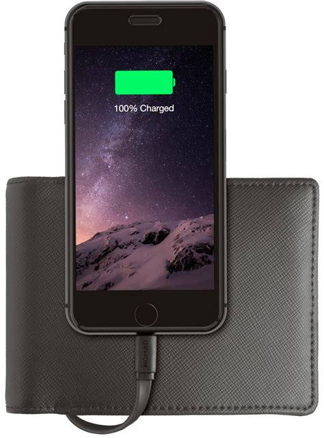 Charger Log On Iphone 4 34a nomad s wallet puts a charge for your iphone 6s in your wallet