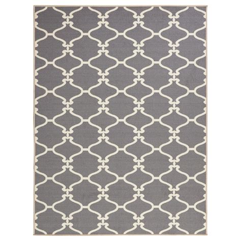 grey moroccan trellis rug ottomanson ultimate shaggy contemporary moroccan trellis design grey 7 ft 10 in x 9 ft 10 in