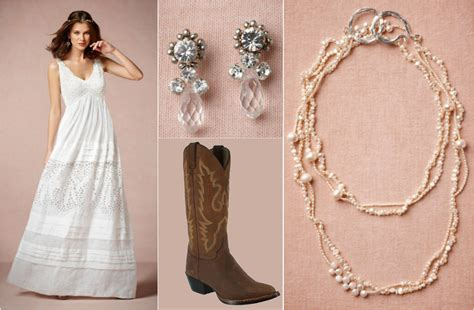 ask maggie wedding dress with cowboy boots rustic