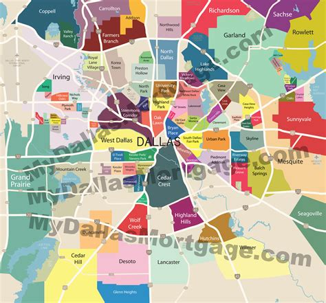 dallas county map images neighborhoods of dallas and surrounding areas