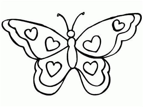 For printable butterfly coloring page printable butterfly coloring