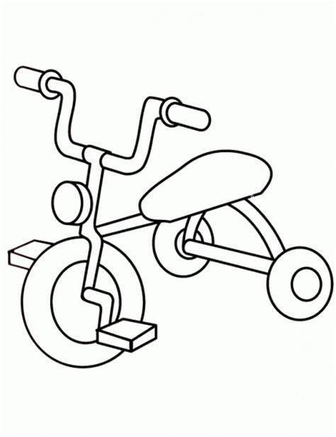 imagenes para colorear bicicleta bicicleta triciclo dibujos y juegos para pintar y colorear
