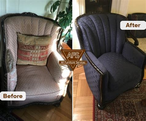 Furniture Upholstery Replacement Antique Chair Complete Redo Frame Repair Wood Finishing