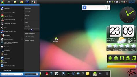 best themes for android jelly bean windows 7 theme android jelly bean skin pack for windows