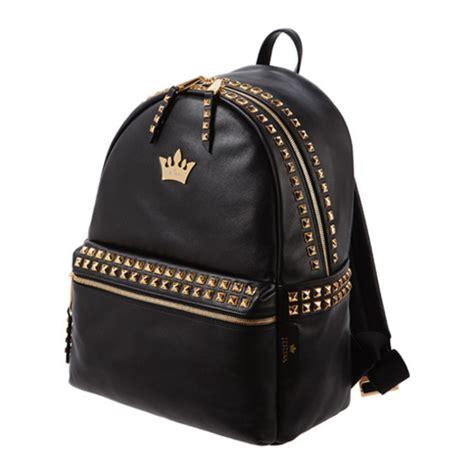 Backpack Stud Crown bag backpack crown black gold studs back to school j estina wheretoget