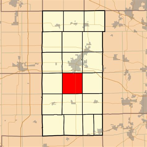 Dekalb County Il Search File Map Highlighting Afton Township Dekalb County Illinois Svg