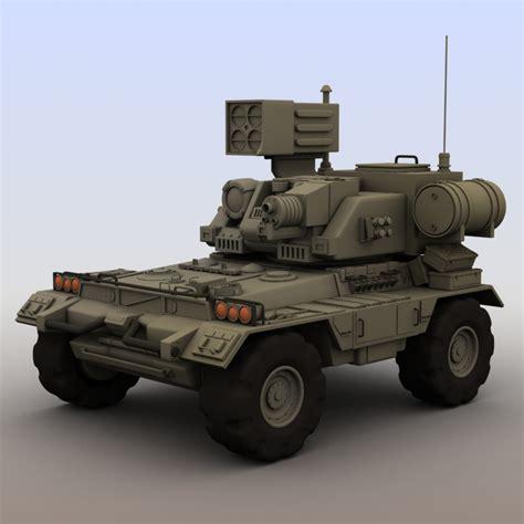futuristic military jeep futuristic armored vehicle 3d model