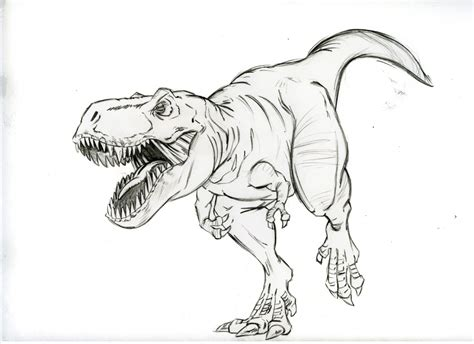 Drawing T Rex by T Rex Drawing T Rex Coloring Pages Getcoloringpages