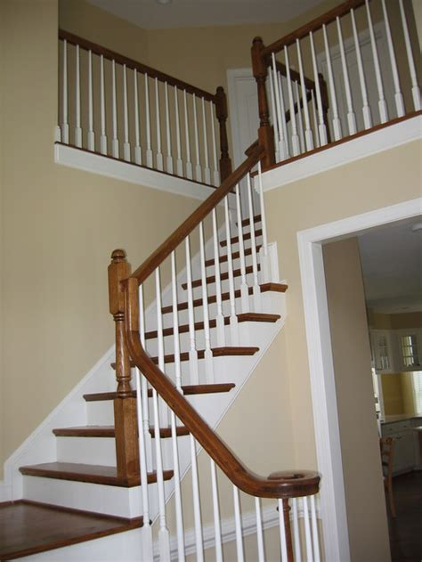 best paint for stair banisters painting banisters black color and finish suggestions