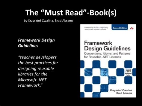 framework design guidelines krzysztof cwalina clean code iii software craftsmanship