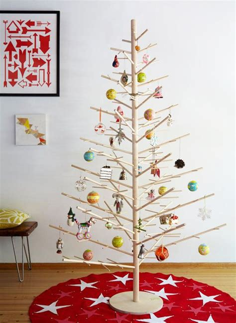 stick christmas trees with lights 18 modern tree alternatives brit co