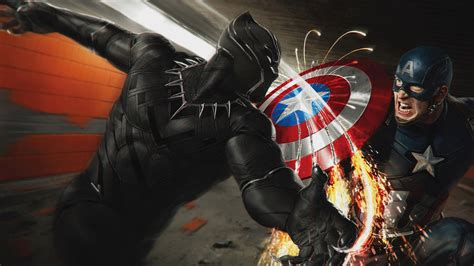 captain america vs wallpaper captain america vs black panther wallpaper download in hd 4k