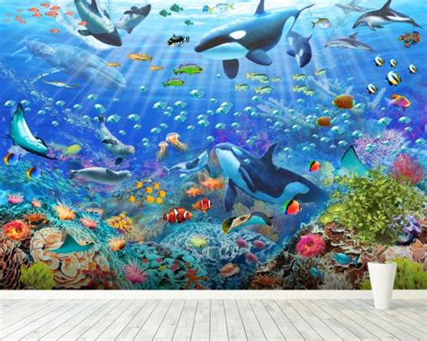 underwater wall mural underwater wall mural underwater wallpaper wallsauce usa