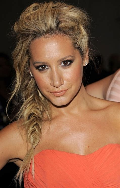 braided hairstyles messy messy fishtail braided hairstyles ashley tisdale hair