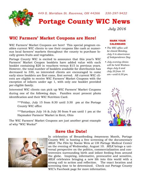 Portage County Ohio Property Tax Records Portage County Wic July Newsletter United Way Of Portage County Oh