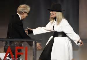 Studded Tribute To Diane Keaton Open All by Diane Keaton Looks Youthful In Striped Top And Scarf In La