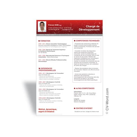 model cv uk word t 233 l 233 charger mod 232 le cv word ventes recherche d emploi