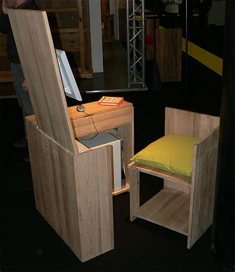 Wooden Desk Chair Design Ideas Functionally Rustic Fold Out Wooden Desk Chair Set