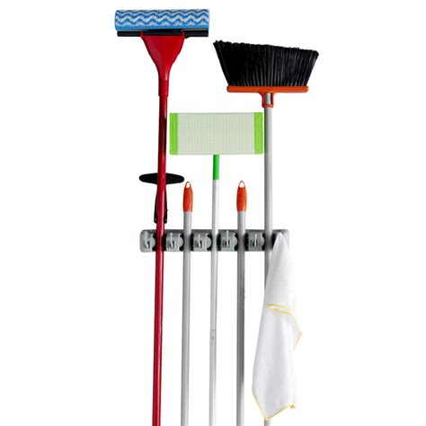 evelots mop and broom holder 5 position from evelots