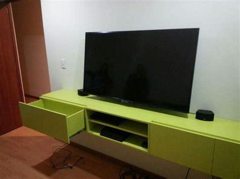 mueble de tele mueble tele mueble modular de pared en nogal con soporte