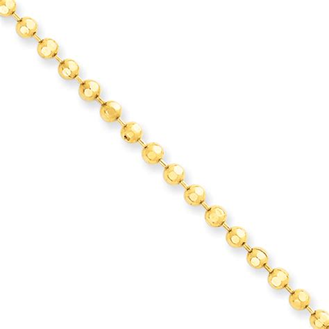 gold chain for dogs gold bead chain gold tag chain gold chain chain 3mm 2 5mm 14k gold