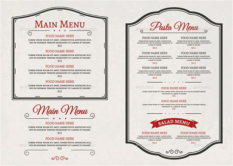 A Menu For Iii by Food Menu Iii By D S Graphicriver