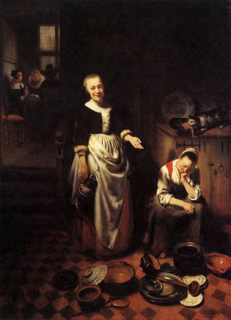 Oil Painting Meme - the idle servant by maes nicolaes