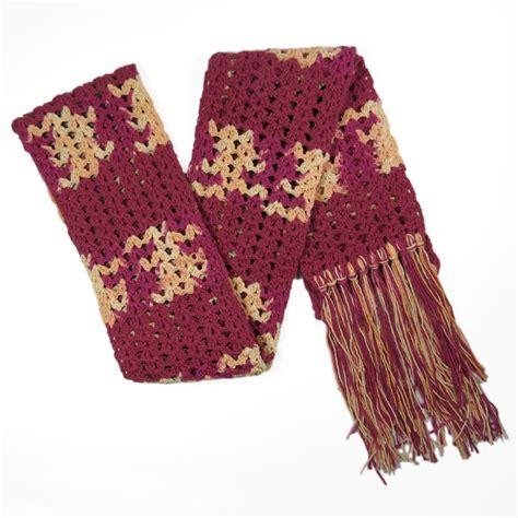 Syal Rajut 5 syal rajut katun marun crafts