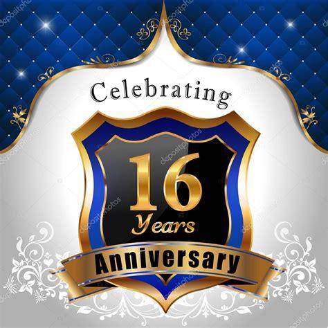 16 in years celebrating 16 years anniversary stock vector 169 atulvermabhai 60835367